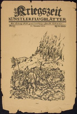 cover image, first illustration in An Der Ostgrenze in Kriegszeit. No. 12, November 11, 1914