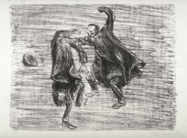 Zeikampf 1 (Duel 1), twenty-fifth plate from the portfolio volume of Der Arme Vetter (Berllin: Paul Cassirer, 1919)