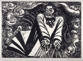 Der erste Tag (The First Day), plate 1 from Die Wandlungen Gottes/Sieben Holzschnitte (The Transformations of God / Seven Woodcuts) (Berlin: Paul Cassirer, 1921)