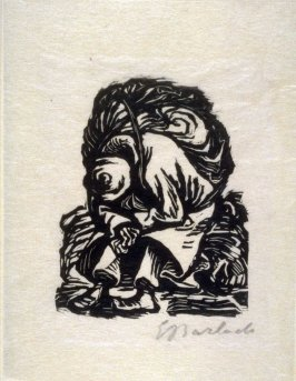 Die Last (The Burden), plate 1 in the separate portfolio accompanying the book Der Findling (Berlin: Paul Cassirer, 1922)