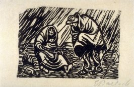 Haderndes Paar im Regen (Couple Quarreling in the Rain), plate 2 in the separate portfolio accompanying the book Der Findling (Berlin: Paul Cassirer, 1922)