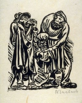 Steinklopfer und roter Kaiser (Stone Breaker and Red Kaiser), plate 3 in the separate portfolio accompanying the book Der Findling (Berlin: Paul Cassirer, 1922)