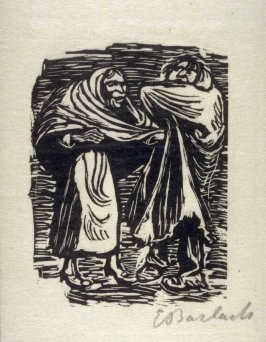 Der Mantel ist mehr Flick als Stuck (The Cloak Is more Patch than Whole Cloth), plate 14 in the separate portfolio accompanying the book Der Findling (Berlin: Paul Cassirer, 1922)
