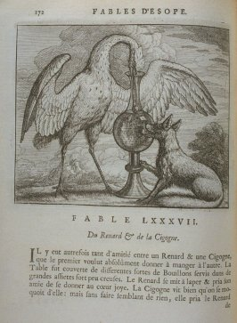 Illustration for the eighty-seventh fable on page 172 in the book Les fables d'Esope et de plusieurs autres excellens mythologistes (Amsterdam: Etienne Roger 1714)