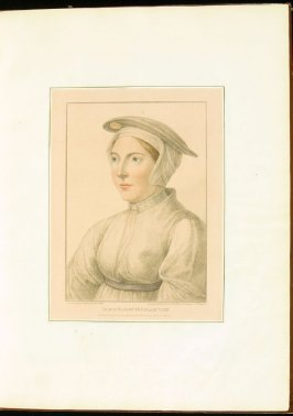 Portrait of an Unidentified Lady , plate 3 in the book Imitations of Original Drawings by Hans Holbein in the Collection of His Majesty (London: John Chamberlaine, 1792)