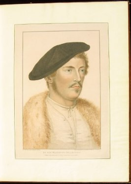 Portrait of an Unidentified Gentleman , plate 5 in the book Imitations of Original Drawings by Hans Holbein in the Collection of His Majesty (London: John Chamberlaine, 1792)