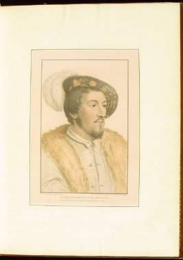 Portrait of an Unidentified Gentleman , plate 7 in the book Imitations of Original Drawings by Hans Holbein in the Collection of His Majesty (London: John Chamberlaine, 1792)