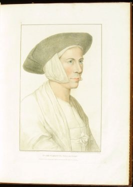 Portrait of an Unidentified Lady , plate 8 in the book Imitations of Original Drawings by Hans Holbein in the Collection of His Majesty (London: John Chamberlaine, 1792)