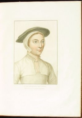 Portrait of an Unidentified Lady , plate 10 in the book Imitations of Original Drawings by Hans Holbein in the Collection of His Majesty (London: John Chamberlaine, 1792)