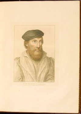 Portrait of an Unidentified Gentleman , plate 11 in the book Imitations of Original Drawings by Hans Holbein in the Collection of His Majesty (London: John Chamberlaine, 1792)