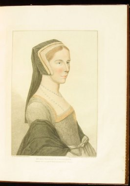 Portrait of Anne Cresacre, plate 12 in the book Imitations of Original Drawings by Hans Holbein in the Collection of His Majesty (London: John Chamberlaine, 1792)