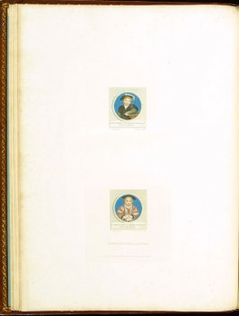 Portraits of Henry and Charles Brandon, Dukes of Suffolk , plate 15 in the book Imitations of Original Drawings by Hans Holbein in the Collection of His Majesty (London: John Chamberlaine, 1792)