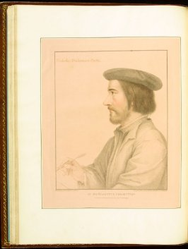 Nicholas Borbonius, (Nicholas Bourbon the Elder ), plate 19 in the book Imitations of Original Drawings by Hans Holbein in the Collection of His Majesty (London: John Chamberlaine, 1792)