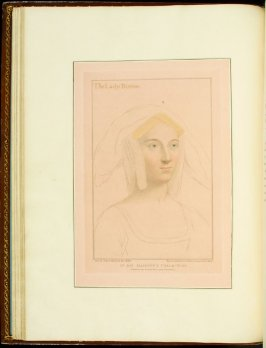 The Lady Borough , plate 20 in the book Imitations of Original Drawings by Hans Holbein in the Collection of His Majesty (London: John Chamberlaine, 1792)