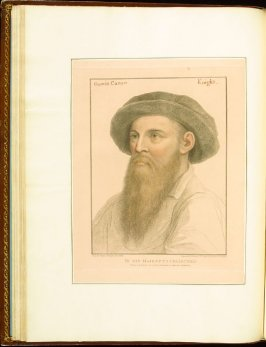 Gawin Carow (Sir Gavin Carew) , plate 23 in the book Imitations of Original Drawings by Hans Holbein in the Collection of His Majesty (London: John Chamberlaine, 1792)