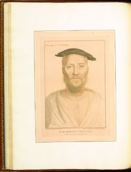 Brooke, Lord Cobham (Geroge Brooke ,9thj Baron Cobham) plate 26 in the book Imitations of Original Drawings by Hans Holbein in the Collection of His Majesty (London: John Chamberlaine, 1792)
