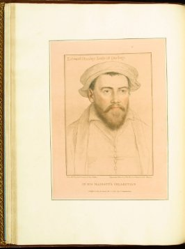Edward Stanley, Earl of Darbey (Derby) , plate 28 in the book Imitations of Original Drawings by Hans Holbein in the Collection of His Majesty (London: John Chamberlaine, 1792)