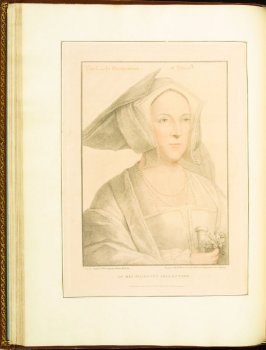 The Lady Marchioness of Dorset (Margaret, Marchioness of Dorset) , plate 29 in the book Imitations of Original Drawings by Hans Holbein in the Collection of His Majesty (London: John Chamberlaine, 1792)