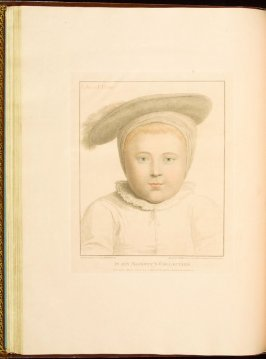 Edward Prince [of Wales] , plate 30 in the book Imitations of Original Drawings by Hans Holbein in the Collection of His Majesty (London: John Chamberlaine, 1792)