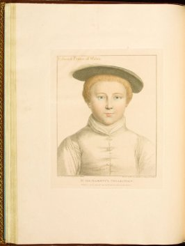 Edward Prince of Wales , plate 31 in the book Imitations of Original Drawings by Hans Holbein in the Collection of His Majesty (London: John Chamberlaine, 1792)