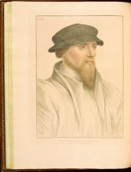 Sir John Gage , plate 35 in the book Imitations of Original Drawings by Hans Holbein in the Collection of His Majesty (London: John Chamberlaine, 1792)