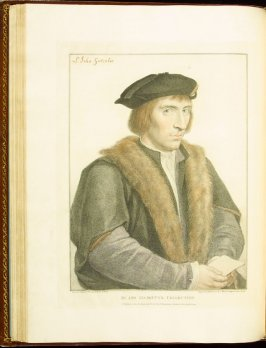Sir John Godsalve , plate 37 in the book Imitations of Original Drawings by Hans Holbein in the Collection of His Majesty (London: John Chamberlaine, 1792)