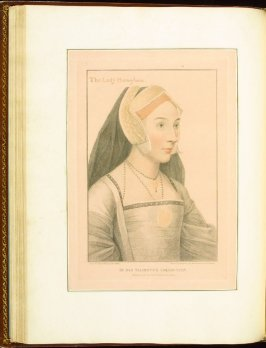 The Lady Henegham (Mary, Lady Heveningham?) , plate 39 in the book Imitations of Original Drawings by Hans Holbein in the Collection of His Majesty (London: John Chamberlaine, 1792)