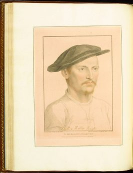 Sir Philip Hobby (Sir Philip Hoby) , plate 40 in the book Imitations of Original Drawings by Hans Holbein in the Collection of His Majesty (London: John Chamberlaine, 1792)
