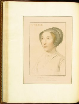 The Lady Hobby (Elizabeth, Lady Hoby) , plate 41 in the book Imitations of Original Drawings by Hans Holbein in the Collection of His Majesty (London: John Chamberlaine, 1792)