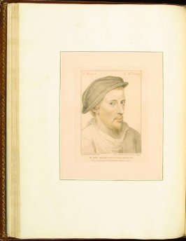 Henry Howard, Earl of Surrey , plate 43 in the book Imitations of Original Drawings by Hans Holbein in the Collection of His Majesty (London: John Chamberlaine, 1792)