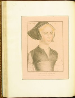 The Lady Lister (Jane, Lady Lister) , plate 45 in the book Imitations of Original Drawings by Hans Holbein in the Collection of His Majesty (London: John Chamberlaine, 1792)