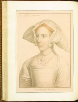 The Lady Mary after Queen) , plate 46 in the book Imitations of Original Drawings by Hans Holbein in the Collection of His Majesty (London: John Chamberlaine, 1792)