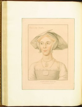 The Lady Meutas, plate 48 in the book Imitations of Original Drawings by Hans Holbein in the Collection of His Majesty (London: John Chamberlaine, 1792)