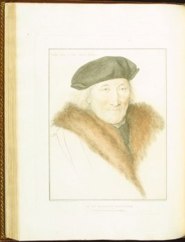 Sir John More , plate 50 in the book Imitations of Original Drawings by Hans Holbein in the Collection of His Majesty (London: John Chamberlaine, 1792)