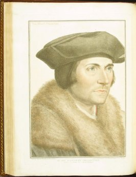 Sir Thomas More , plate 51 in the book Imitations of Original Drawings by Hans Holbein in the Collection of His Majesty (London: John Chamberlaine, 1792)