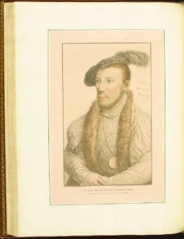 Willliam Parr, Marquess of Northampton , plate 54 in the book Imitations of Original Drawings by Hans Holbein in the Collection of His Majesty (London: John Chamberlaine, 1792)