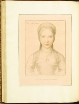The Lady Parker , plate 55 in the book Imitations of Original Drawings by Hans Holbein in the Collection of His Majesty (London: John Chamberlaine, 1792)