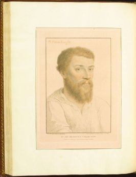 """""""Sir Nicholas Poins"""" , plate 57 in the book Imitations of Original Drawings by Hans Holbein in the Collection of His Majesty (London: John Chamberlaine, 1792)"""