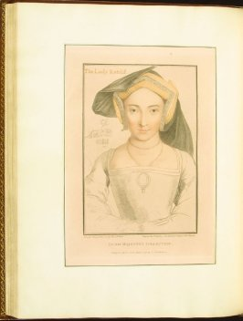 The Lady Ratcliffe , plate 60 in the book Imitations of Original Drawings by Hans Holbein in the Collection of His Majesty (London: John Chamberlaine, 1792)