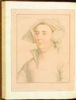 The Lady Rich , plate 63 in the book Imitations of Original Drawings by Hans Holbein in the Collection of His Majesty (London: John Chamberlaine, 1792)