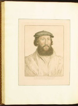 Portrait of an Unidentified Gerntleman , plate 74 in the book Imitations of Original Drawings by Hans Holbein in the Collection of His Majesty (London: John Chamberlaine, 1792)