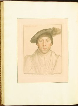 Thomas Earl of Surrey , plate 76 in the book Imitations of Original Drawings by Hans Holbein in the Collection of His Majesty (London: John Chamberlaine, 1792)