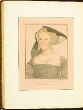 The Lady Vaux , plate 79 in the book Imitations of Original Drawings by Hans Holbein in the Collection of His Majesty (London: John Chamberlaine, 1792)