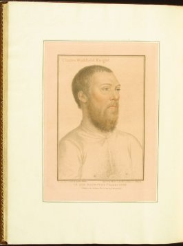 Lord Wentworth , plate 81 in the book Imitations of Original Drawings by Hans Holbein in the Collection of His Majesty (London: John Chamberlaine, 1792)