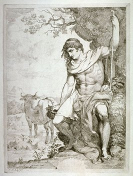 Classical shepherd with cattle and sheep