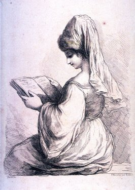 A Lady Reading, after Guercino