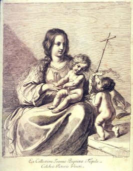 The Madonna With the Infant Jesus And St. John the Baptist, after Guercino, from the series Racolta di alcuni disegni del Barbieri da Cento detto il Guercino