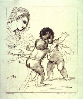 The Virgin Watching the Infant Jesus Embracing the Infant St. John the Baptist