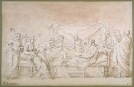 The Child Moses Trampling on Pharaoh's Crown, after drawing by Nicolas Poussin