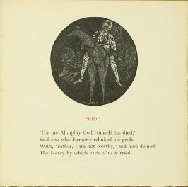 """Pride,"" in the book The Seven Deadly Sins by Anthony Hecht (Northampton, Mass: Gehenna Press, 1958)"